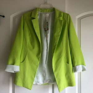 Jackets & Blazers - Brand new with tags, neon blazer